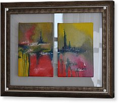 Acrylic Print featuring the painting Mystic Reflections by Linda Ferreira