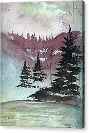 Mystical Pond Acrylic Print by Bernadette Krupa