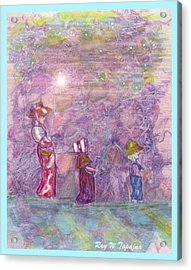 Mystical Stroll Acrylic Print by Ray Tapajna