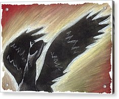 Myth Takes Flight Acrylic Print by Mark Schutter