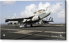 N Ea-6b Prowler Makes An Arrested Acrylic Print by Stocktrek Images