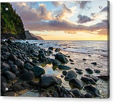 Na Pali Sunset Acrylic Print by Adam Pender
