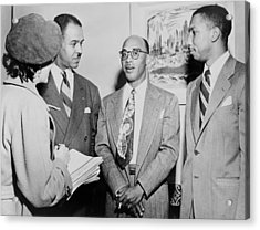 Naacp Leaders During Press Conference Acrylic Print by Everett