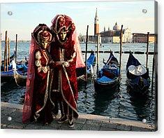 Acrylic Print featuring the photograph Nadine And Daniel Across San Giorgio by Donna Corless