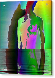 Naked Thoughts Acrylic Print by Susan  Solak
