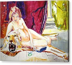 Acrylic Print featuring the painting Naked Truth by Judy Kay