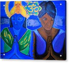 Namaste-we Are One Acrylic Print by Lisa Brandel