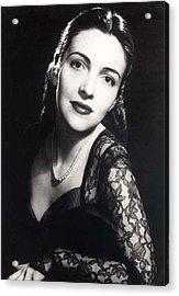 Nancy Davis Reagan In A Portrait Acrylic Print by Everett