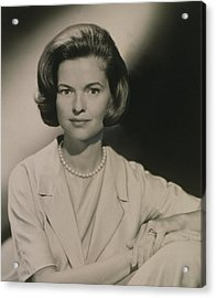 Nancy Dickerson 1927-1997 Was Hired Acrylic Print by Everett