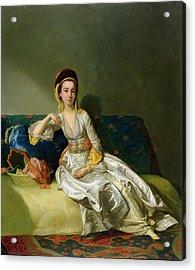 Nancy Parsons In Turkish Dress Acrylic Print by George Willison