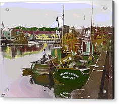Acrylic Print featuring the mixed media Nantucket by Charles Shoup