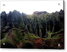 Napali Coast Hawai Acrylic Print by Luis and Paula Lopez