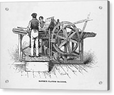 Napier's Printing Machine Acrylic Print by Science, Industry & Business Librarynew York Public Library