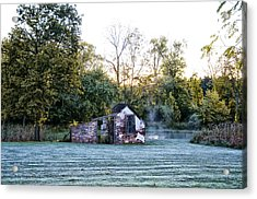 Narcissa Springhouse In Fall Acrylic Print by Bill Cannon