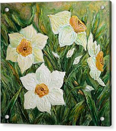 Narcissus In Bloom Acrylic Print
