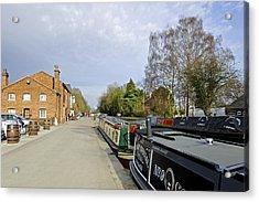 Narrowboats At Fradley Junction Acrylic Print