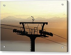 Narvikfjellet Cable Car In Narvik, Norway Acrylic Print by Anjci (c) All Rights Reserved