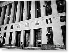 Nashville City Hall Davidson County Public Building And Court House Tennessee Usa Acrylic Print by Joe Fox