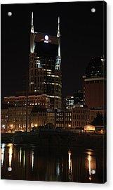 Nashville Skyline At Night Acrylic Print by Sam Amato