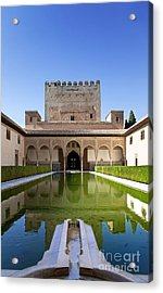 Nasrid Palace From Fish Pond Acrylic Print by Jane Rix