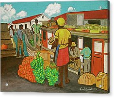 Nassau Fruit Boat Acrylic Print by Frank Hunter