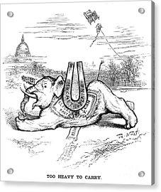 Nast: Blaine Cartoon, 1884 Acrylic Print by Granger
