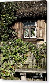 Acrylic Print featuring the photograph Nasturtium Bench by Agnieszka Kubica