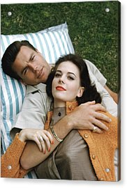 Natalie Wood And Robert Wagner, Late Acrylic Print by Everett
