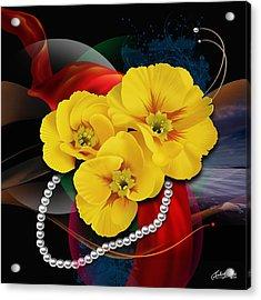 Natalys Flower Acrylic Print by Satish Verma