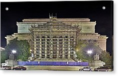 National Archives Building Renovation Acrylic Print by Metro DC Photography