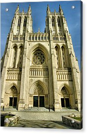 National Cathedral IIi Acrylic Print by Steven Ainsworth