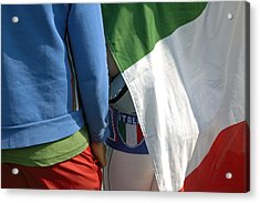 National Colors Of Italy - Green White And Red Acrylic Print by Matthias Hauser