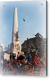 National Memorial In Amsterdam Acrylic Print by Trude Janssen