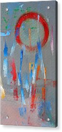 Native American Abstract Acrylic Print by Charles Stuart