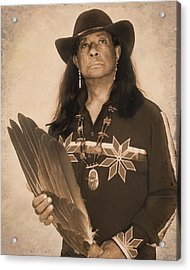Native American Seer Acrylic Print by Benjamin  Thomas