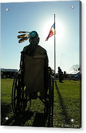Native American Veteran In Wheel Chair Acrylic Print