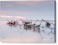 Native Asian Fishery Acrylic Print by Buchachon Petthanya