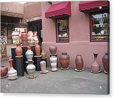 Acrylic Print featuring the photograph Native Jars And Vases Market by Dora Sofia Caputo Photographic Art and Design