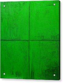 Natural Green Coordinate System Acrylic Print by Kazuya Akimoto