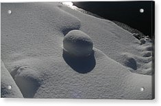 Natural Snowball Acrylic Print by Waldemar Okon