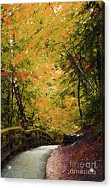 Acrylic Print featuring the photograph Nature In Oil  by Deniece Platt