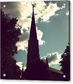 #nature #trees #leaves #church #steeple Acrylic Print