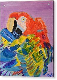 Acrylic Print featuring the painting Nature's Painting by Meryl Goudey