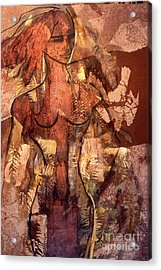 Naughty Lady Of Angel Fire Acrylic Print by Charles B Mitchell