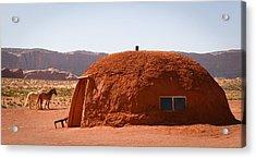 Navajo Home Acrylic Print by Diane Bohna