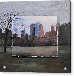 Ncy Central Park Layered Acrylic Print by Anita Burgermeister
