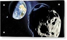 Near-earth Asteroid, Artwork Acrylic Print by Detlev Van Ravenswaay