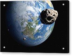 Near-earth Asteroids, Artwork Acrylic Print by Detlev Van Ravenswaay