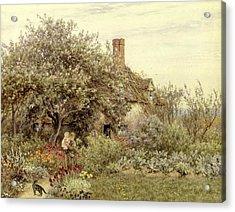 Near Hambledon Acrylic Print by Helen Allingham