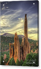 Near Sunset Garden Of The Gods Acrylic Print